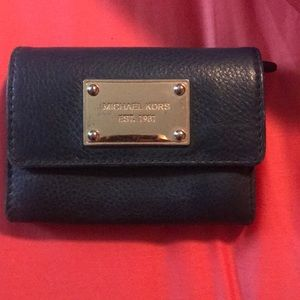 Blue Michael Kors wallet